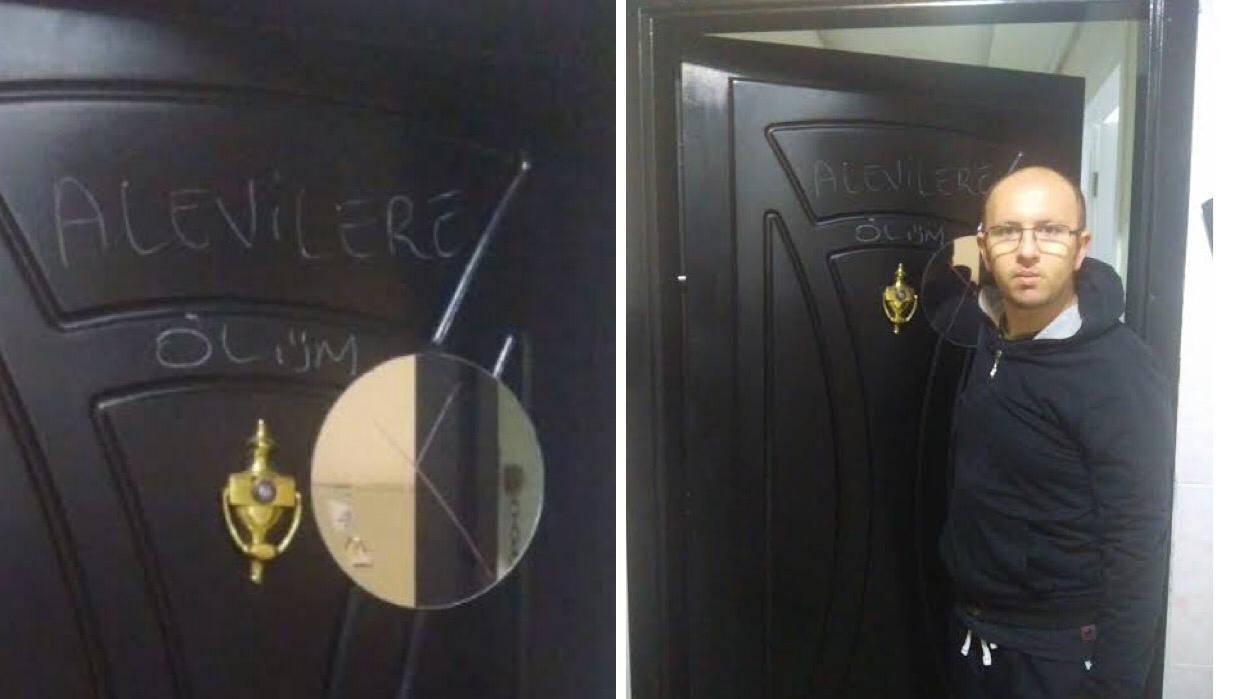 İzmir'de Alevi Çiftin Kapısı Işaretlendi: 'Alevilere Ölüm'